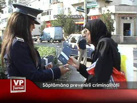 Săptămâna prevenirii criminalităţii