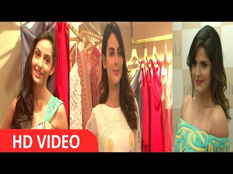 Zareen Khan, Mandana Karimi & Nora Fatehi At Store Launch Of Designer Ritika Bharwani