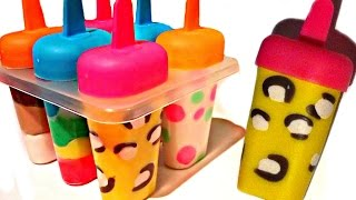 How To Make Play Doh Ice Cream Popsicles with Molds Fun and Cr...