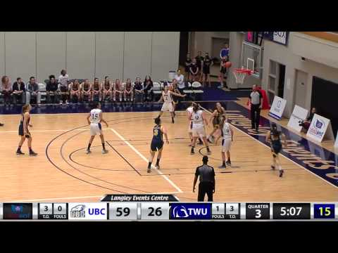 2015-01-24 TWU Women's Basketball Highlights vs UBC