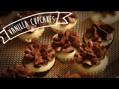Eggless Vanilla Cupcake With Chocolate Frosting | Kiddie's Corner With Anushruti