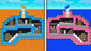 Minecraft Boy vs Girl Secret Underground Base Challenge