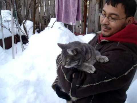 Ashu Walk on Snow