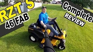6. Cub Cadet steering wheel zero turn mower review - RZT S46 FAB