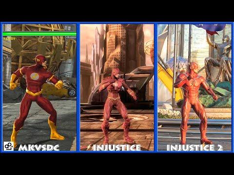 DC Universe MKVSDC Injustice THE FLASH Graphic Evolution 2008-2017   XBOX360 PS4  