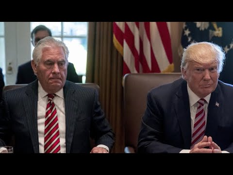 Rex Tillerson and President Trump's policy disagreements