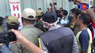 Pengamanan Pasar Sore Kota Tegal Diwarnai Aksi Protes (HARIANSIBER TV)