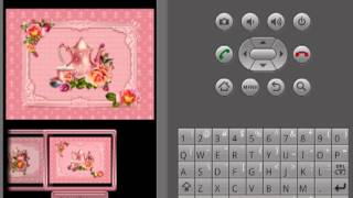 GO Launcher Theme: Rose Tea YouTube video