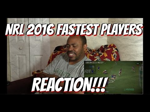 NRL 2016 FASTEST PLAYERS REACTION!!!