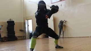 HEMA (Meyer) Minsk longsword sparring session # 2 (there is no double hit and afterblow)