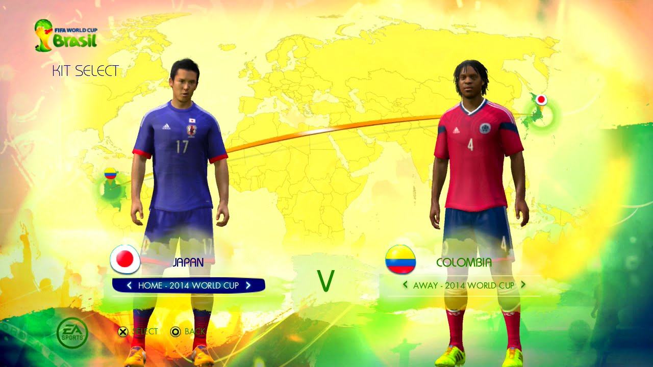 Japan vs Colombia Group B Game Pretend Olympic Games Using 2014 FIFA World Cup Brazil