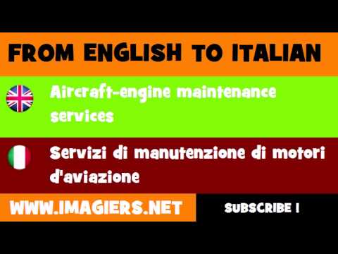 FROM ENGLISH TO ITALIAN = Aircraft engine maintenance services