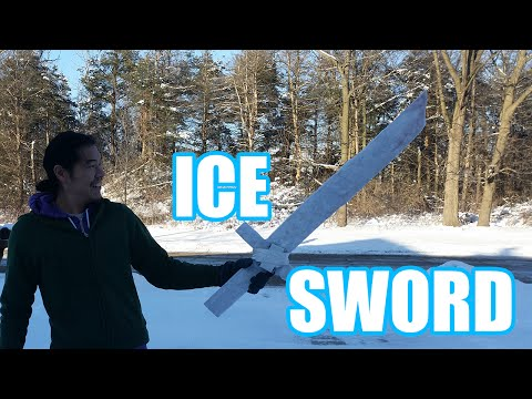 How to Make a Functional Ice Sword Out of a Mixture of Water and Toilet