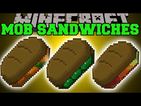 Minecraft: MOB SANDWICHES MOD (EAT MOBS FOR EPIC POWERS & TROLLING!) Mod Showcase
