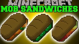 Minecraft: MOB SANDWICHES MOD (EAT MOBS FOR EPIC POWERS&TROLLING!) Mod Showcase