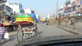 Karnal India  city images : Traffic in India. Karnal, India. January 2013.