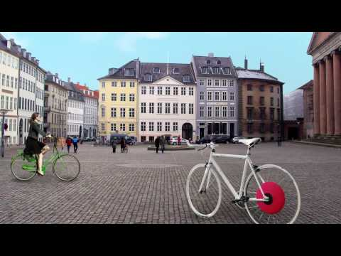 0 The Copenhagen Wheel   Hybrid Electric Wheel for Bikes