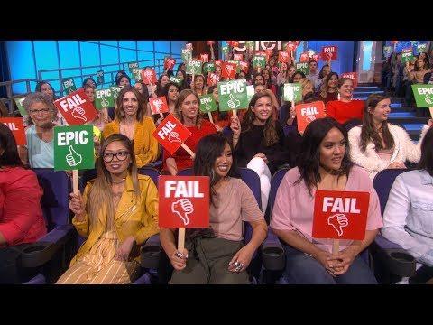 Ellen's Audience Plays 'Epic or Fail'