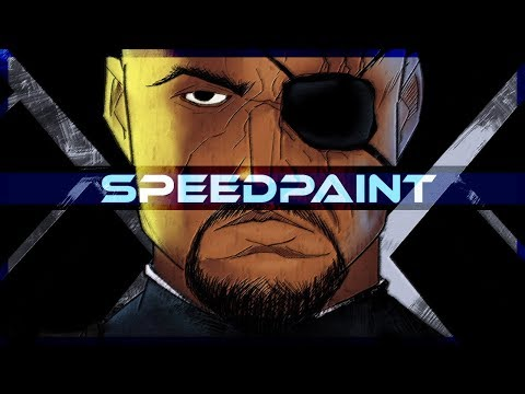 Nick Fury Ultimate Marvel Comics Speedpaint on PSD - Thời lượng: 10 phút.