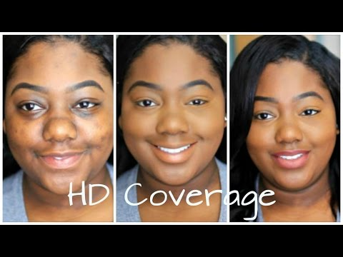 101 Full Coverage Hd Foundation Routine | How To Cover Dark Marks, Acne Scars, Dark Circles