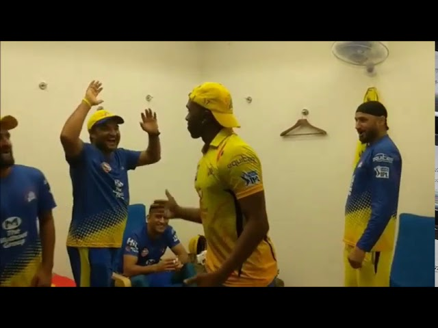 See How Chennai Super Kings Celebrate Their Victory in Dressing Room