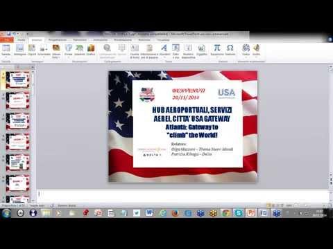 Video HUB AEROPORTUALI, SERVIZI AEREI, CITTA' USA GATEWAY (20/11/2014)