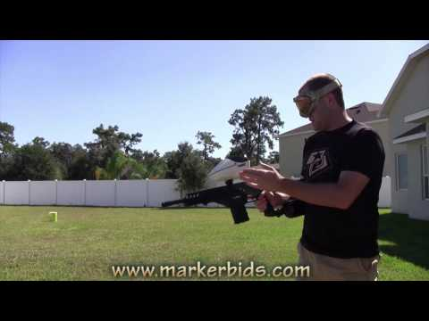 DAM - http://www.markerbids.com In this video, we take an overview of the Dye Assault Matrix (DAM). We shoot it with regular paint, then we shoot it with first str...