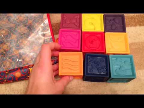 Развивающие силиконовые кубики Battat ПОСЧИТАЙ-КА!