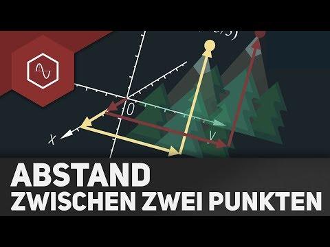 Abstand zwischen 2 Punkten berechnen - Grundlagen Vektorgeometrie
