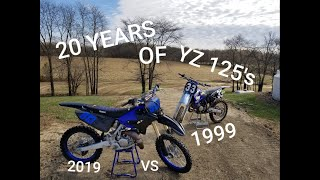 9. 2019 YZ 125 VS 1999 YZ 125 20 YEARS OF YAMAHA