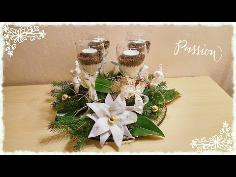 magnifico centro tavola natalizio - riciclo creativo