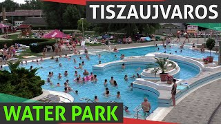 Tiszaujvaros Hungary  city photo : Tiszaujvaros Thermal Bath & Water Park With Slides Near Eger (Egerszalók), Summer Hungary HD