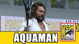 Jason Momoa's spectacular Aquaman entrance into Hall H for the Justice League Comic Con panel. Subscribe for more!