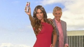 Ellen Interrupts Sofia's Diet Pepsi Commercial