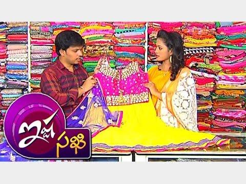 Crop-Tops-With-Lehenga-Style-Neted-Anarkali-Dresses-Ista-Sakhi-Vanitha-TV