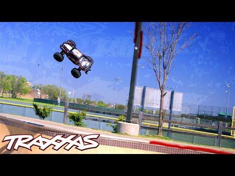 Skate Park Shred Session | Traxxas 8s X-Maxx in 4K