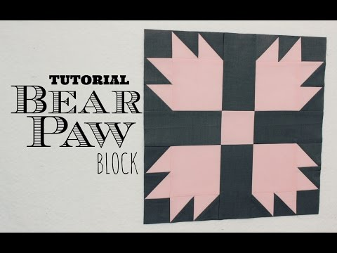 patchwork - bear paw block (zampa d'orso)