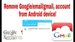 How to remove Google,email,gmail account from Android device. Remove Google account on Android.know how to remove gmail, Google account from your android phone.50% of Android users still do not know that, I hope this video will help them.thanks for watching this video.do not forget subscribe my channel.