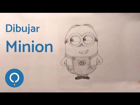 Dibujar Minion 2 ojos (Gru, mi villano favorito) - How to draw Minion 2 eyes (Despicable Me)