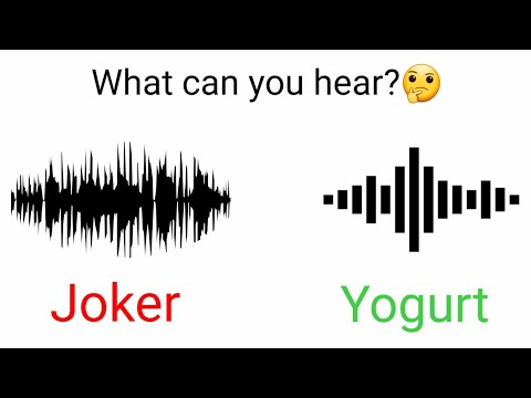 What sound can you hear in this video, Joker or Yogurt?