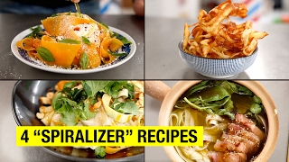 4 Healthy & Lazy Spiralizer Recipes You Can Finally Make... by Alex French Guy Cooking