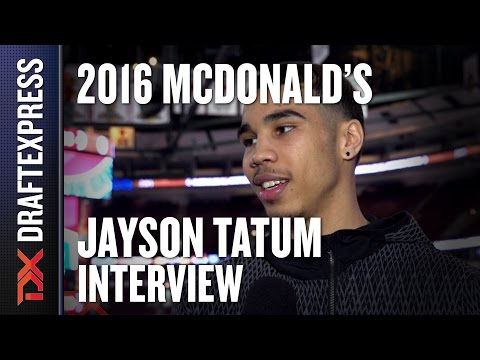 Jayson Tatum - 2016 McDonald's All American Interview