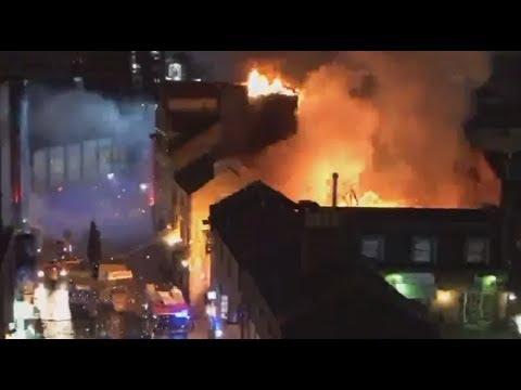 Blaze engulfs London's Camden Market (STREAMED LIVE)