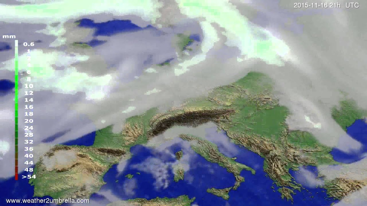 Precipitation forecast Europe 2015-11-13