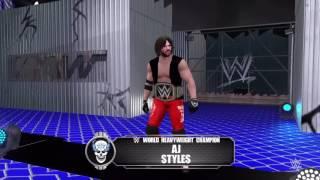 WWE 2K16: Dean Ambrose vs John Cena vs AJ Styles No Mercy 2016