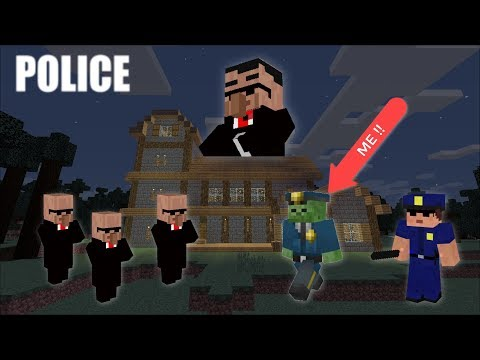 Become A Zombie Police  And Protect All Minecraft Secrets !! Epic