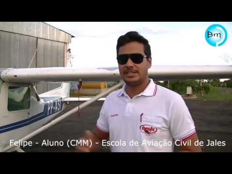 Jales - Escola de Aviação Civil de Jales (CMM) atrai alunos de todo Brasil.