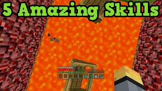 Minecraft Xbox 360 + PS3 Top 5 Useful Skills (CHALLENGING)