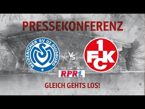 Pressekonferenz vor dem Auswärtsspiel beim MSV Duisburg