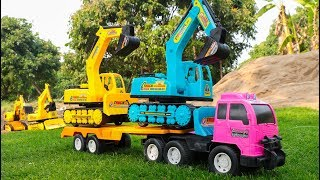 Video Learn Colors with Construction Vehicles - Excavator ,Dump truck, Trailer truck , Crane Truck MP3, 3GP, MP4, WEBM, AVI, FLV Maret 2019